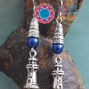 Artist Created Lighthouse Earrings MUSEUM Quality